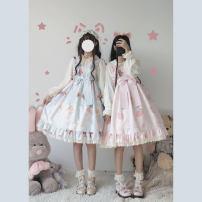 Dress Summer 2020 Light blue, light green, light pink Small, large Chen Xiaoxi