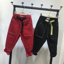 trousers Other / other male 100/5#,110/7#,120/9#,130/11#,140/13#,150/15# Black, red spring and autumn trousers leisure time There are models in the real shooting Casual pants Leather belt middle-waisted cotton Don't open the crotch Cotton 97% polyurethane elastic fiber (spandex) 3% K10028 Class A
