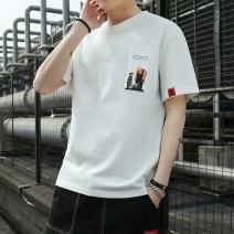 T-shirt Youth fashion thin S,M,L,XL,2XL,3XL Others Short sleeve Crew neck Self cultivation daily summer other Non brand