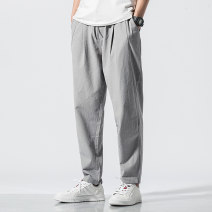Casual pants Others Youth fashion M,L,XL,2XL,3XL,4XL,5XL routine trousers Other leisure easy No bullet autumn Large size Chinese style 2019 Medium low back Other 100% Haren pants Pocket decoration washing Solid color other other