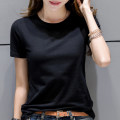 T-shirt S,M,L,XL,2XL,3XL Summer of 2019 Short sleeve Crew neck Self cultivation Regular routine commute cotton 96% and above 25-29 years old Simplicity originality Solid color Ingenious in meaning YQM201b