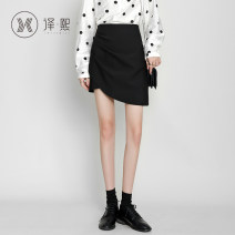 skirt Autumn 2020 XS S M L XL 2XL Black grey Short skirt commute High waist skirt Solid color 25-29 years old yixi5172sk 71% (inclusive) - 80% (inclusive) Yixi polyester fiber Korean version Polyester 78% cotton 20% polyurethane elastic fiber (spandex) 2%