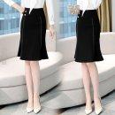 skirt Winter 2016 M,L,XL,2XL Black$| Middle-skirt other ZZT9767