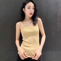 Vest sling Summer 2020 Yellow, white, black 2 / s, 3 / m, 4 / L, 5 / XL singleton  routine Self cultivation Versatile camisole Solid color 25-29 years old 51% (inclusive) - 70% (inclusive) Cellulose acetate Novel goldette
