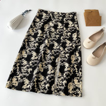 skirt Summer 2021 S M L XL Picture color longuette commute High waist A-line skirt Decor Type A 18-24 years old 4.2N-6 More than 95% Wool VV combination other Zipper print split Korean version Other 100% Pure e-commerce (online only)