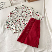 Fashion suit Summer 2021 S M L average code Picture color shirt red skirt 18-25 years old VV combination 040502C 96% and above Other 100% Pure e-commerce (online only)