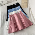 skirt Summer 2021 S M L XL Blue White Black Pink Short skirt commute High waist A-line skirt letter Type A 18-24 years old K040213 More than 95% VV combination other Zipper patch Korean version Other 100% Pure e-commerce (online only)