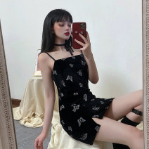 Dress Summer 2020 black S,M,L Short skirt singleton  Sleeveless commute other middle-waisted Cartoon animation Socket other other camisole 18-24 years old Type H Korean version