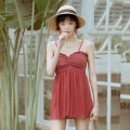 one piece  W M,L,XL gules Skirt one piece With chest pad without steel support Nylon, spandex female
