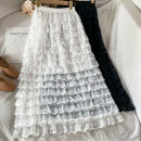 skirt Summer 2021 Average size White black Mid length dress commute High waist Cake skirt Solid color Type A 18-24 years old L-0317-011 More than 95% Coshehkg / Qiao line other Lace Korean version Other 100% Pure e-commerce (online only)