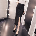 skirt Summer 2020 S M L XL XXL Black front fork red front fork black back fork red back fork longuette commute High waist skirt Solid color Type H AXMOU More than 95% AXm other Korean version Other 100% Pure e-commerce (online only)