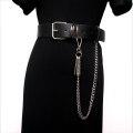 Belt / belt / chain Pu (artificial leather) black female Versatile Single loop