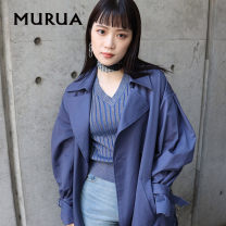 sweater Spring 2020 F BEIGE BLACK BLUE elbow sleeve Socket singleton  Regular cotton 51% (inclusive) - 70% (inclusive) V-neck Regular routine Solid color Self cultivation 18-24 years old MURUA Cotton 58% polyester 42%