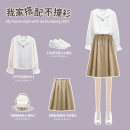 shirt Apricot skirt white shirt blue shirt blue suit white suit S M L XL Spring 2021 other 96% and above Short sleeve Original design Regular stand collar stripe 30-34 years old Zvlimvam / zhelinman Other 100%