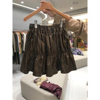 skirt Autumn 2020 S,M,L,XL Black, brown Short skirt commute High waist A-line skirt Solid color Type A 18-24 years old 51% (inclusive) - 70% (inclusive) other other Korean version