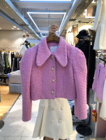 short coat Spring 2021 S,M,L,XL Off white, black, pink purple Long sleeves have cash less than that is registered in the accounts routine singleton  Straight cylinder commute routine Polo collar Single breasted Solid color 18-24 years old 51% (inclusive) - 70% (inclusive) Button other