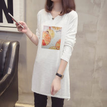 T-shirt Lemon yellow 6811 white 6811 XL 2XL 3XL 4XL Spring 2020 Long sleeves V-neck easy Medium length routine commute cotton 86% (inclusive) -95% (inclusive) 25-29 years old Korean version originality Cartoon animation Diwei D20CT6811 printing Cotton 90% other 10% Pure e-commerce (online only)