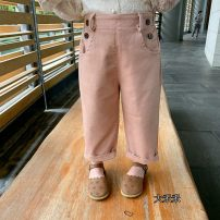trousers Other / other neutral 80cm,90cm,100cm,110cm,120cm,130cm Off white, pink spring and autumn trousers Casual pants Leather belt cotton Cotton 97% polyurethane elastic fiber (spandex) 3% caviar caviar 12 months, 9 months, 18 months, 2 years old, 3 years old, 4 years old, 5 years old, 6 years old
