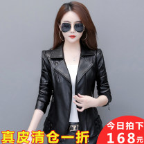 leather clothing Miedaiia / midini Autumn 2020 XXS,M,L,XL,2XL,3XL,4XL have cash less than that is registered in the accounts Long sleeves Self cultivation commute tailored collar zipper routine zipper