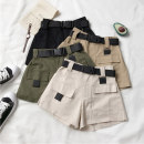 Casual pants Army green, khaki, apricot, black S,M,L Summer 2020 shorts Wide leg pants High waist commute routine 18-24 years old 71% (inclusive) - 80% (inclusive) 09096H Korean version polyester fiber