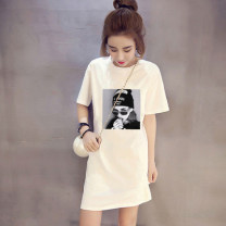 T-shirt 5511 black 5530 white 5521 black 5523 white 5526 black 5570 white 5513 black 5515 white 5515 black 5513 white 5570 black 5521 white 5530 black 5511 white 5523 black 5526 white M L XL 2XL Summer of 2019 Short sleeve Crew neck easy Medium length routine commute other 96% and above youth