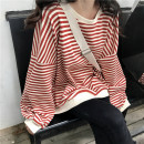 Sweater / sweater Autumn of 2019 S,M,L,XL Long sleeves routine singleton  Crew neck easy commute stripe 18-24 years old Other / other Korean version Intradermal bile duct