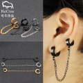 Ear Studs Titanium steel 30-39.99 yuan Other / other Single steel single gold single black brand new Japan and South Korea female goods in stock Fresh out of the oven Not inlaid Love / water drop / bell CC-016