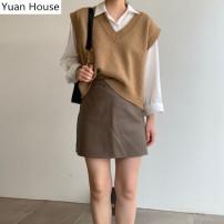 Fashion suit Autumn 2020 S,M,L,XL Vest, shirt, skirt, Vest + shirt + skirt, Vest + shirt, shirt + skirt, Vest + skirt 18-25 years old