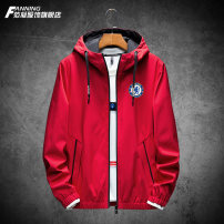 Jacket Fan Ning Youth fashion Black red black red plus cotton black plus cotton red plus cotton grey plus Cotton Black Red grey XXL XXXL XXXXL XXXXXL M L XL routine easy Other leisure Four seasons iashgkl99865 Polyester 100% Long sleeves Wear out Hood tide teenagers routine Zipper placket other