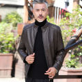 leather clothing Others Business gentleman Brown, black, black / stand collar, black / stand collar, black / lapel, Brown / LAPEL 170/M,175/L,180/XL,185/XXL,190/XXXL,195/XXXXL routine Leather clothes stand collar easy zipper autumn leisure time old age PU tide Cloth hem Side seam pocket