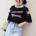 T-shirt 6666 white 6666 black 6666 yellow MLXLXXL Summer of 2018 elbow sleeve Crew neck easy Regular routine commute 18-24 years old Korean version originality letter Welltulip / Yao Tongli 6666# printing Polyester 95% polyurethane elastic fiber (spandex) 5% Pure e-commerce (online only)