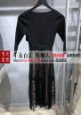 Dress Spring 2021 black XS,S,M,L,XL Mid length dress singleton  three quarter sleeve V-neck High waist Socket A-line skirt routine 25-29 years old