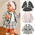 suit Other / other White, black, pink female spring and autumn Europe and America Long sleeve + skirt 2 pieces routine No model Socket nothing lattice children Expression of love other 6 months, 12 months, 18 months, 2 years old, 3 years old