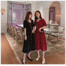 Dress Summer 2021 Red, black, sling M,L,XL,2XL,3XL,4XL Short sleeve commute Solid color Socket 18-24 years old Other / other Korean version 2471#
