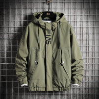 Jacket Kashi Road Youth fashion Army green black grey M L XL 2XL 3XL 4XL routine easy Other leisure spring JK1992-6 Polyester 100% Long sleeves Wear out Hood tide youth routine Zipper placket Rib hem Closing sleeve other Spring 2021 Rib bottom pendulum Side seam pocket Pure e-commerce (online only)