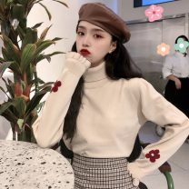 Wool knitwear Winter of 2019 One size fits all, XXXs pre-sale Apricot, black, brown Long sleeves singleton  Socket other 30% and below Super short routine commute Self cultivation High collar routine Solid color Socket Korean version 18-24 years old Other / other