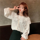 shirt White, black One size fits all, XXXs pre-sale Winter of 2019 other 30% and below Long sleeves commute Regular 18-24 years old Other / other Korean version