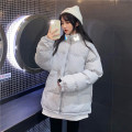 Cotton padded clothes Gray, black One size fits all, XXXs pre-sale Winter 2020 Other / other Medium length Long sleeves thickening zipper commute stand collar routine Solid color Korean version 30% and below 18-24 years old