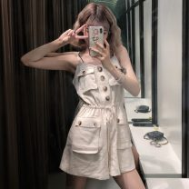 Casual pants Apricot M. L, XXS pre-sale Summer of 2019 shorts loose  High waist commute routine 18-24 years old Other / other Korean version