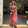 Dress Summer of 2019 Red check One size fits all, XXXs pre-sale longuette singleton  Short sleeve commute Doll Collar Loose waist lattice Single breasted other routine Others 18-24 years old Other / other Korean version 30% and below other