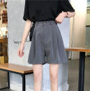 Casual pants Gray, black S. M, l, XXS pre-sale Summer 2020 Pant loose  High waist commute routine 18-24 years old
