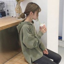 Sweater / sweater Fall 2017 One size fits all, XXXs pre-sale Long sleeves routine Socket singleton  routine Hood Straight cylinder commute routine Solid color 18-24 years old Other / other Korean version