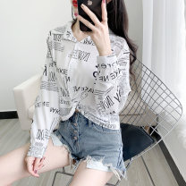 shirt Pink white yellow blue S M L XL Summer 2020 other 96% and above Long sleeves Versatile Regular Polo collar Single row multi button routine other 18-24 years old Straight cylinder Kolrsria / cosa Triacetate 98% others 2% Pure e-commerce (online only)