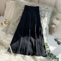 skirt Spring 2021 Average size Black grey longuette commute High waist Pleated skirt Solid color Type A 25-29 years old f496 51% (inclusive) - 70% (inclusive) knitting Yinwei Viscose fold Korean version Viscose fiber (viscose fiber) 64% polyamide fiber (nylon) 36% Pure e-commerce (online only)