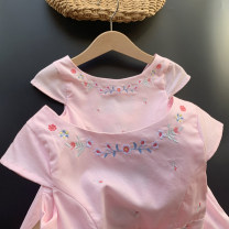 Dress female Other / other Cotton 100% summer other Short sleeve Solid color cotton Princess Dress 2, 3, 4, 5, 6, 7, 8, 9, 10, 11