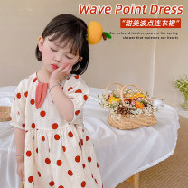 Dress Middy red dot female Other / other 80cm,90cm,100cm,110cm,120cm Other 100% summer lady Short sleeve other other A-line skirt AUT1528 12 months, 18 months, 2 years old, 3 years old, 4 years old, 5 years old, 6 years old, 7 years old Chinese Mainland