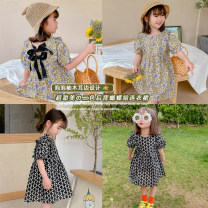 Dress Black flower, blue and yellow flower dress female Other / other 80cm,90cm,100cm,110cm,120cm,130cm,140cm Other 100% summer lady Short sleeve Broken flowers other A-line skirt AUT1516 12 months, 3 years, 6 years, 18 months, 2 years, 4 years, 5 years Chinese Mainland Zhejiang Province Huzhou City