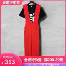 Fashion suit Summer 2021 S M L XL 2XL Black (two-piece set) white (two-piece set) black (T-shirt 118 yuan) white (T-shirt 118 yuan) suspenders 238 yuan Over 35 years old Duo Yue Other 100% Pure e-commerce (online only)