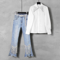 Fashion suit Spring 2021 S M L XL 2XL Two piece set (belt free) shirt 188 yuan pants (belt free) 168 yuan Over 35 years old Duo Yue Other 100% Pure e-commerce (online only)