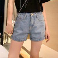 Jeans Summer 2021 Dark blue light blue S M L XL 2XL shorts High waist Straight pants routine JH2021022439 Jayne & Hale / Jian Hui Other 100%